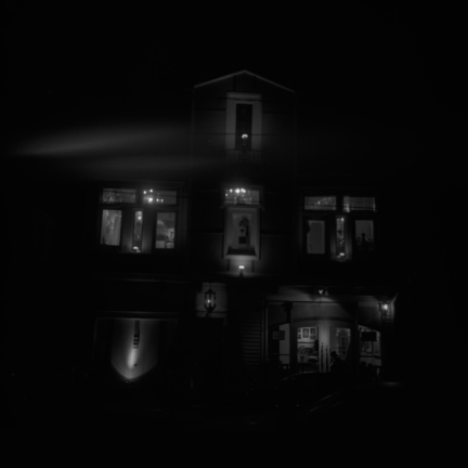 Black and White, House, Lights